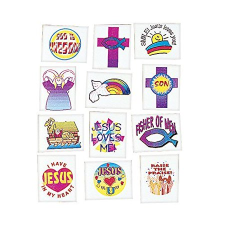 Religious Tattoos (72 Pack) - Novelty Jewelry & Tattoos & Body Art - Religious Novelties