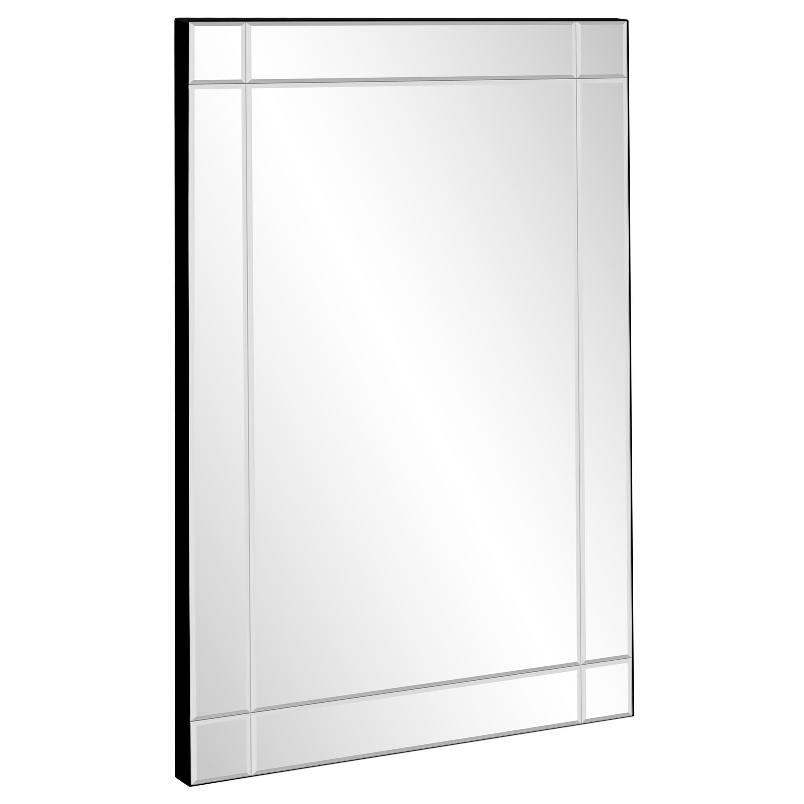 "Best Choice Products 36""x24"" Rectangular Bedroom Bathroom Entryway Decorative Frameless Wall Mirror"