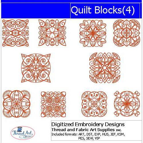 ThreadArt Machine Embroidery Designs Quilt Blocks(4) CD