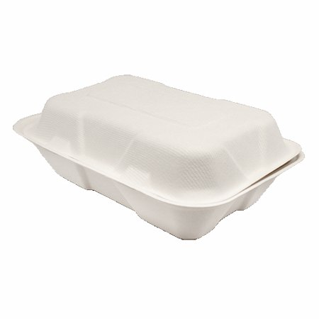 Clamshell Hinged Box Containers To Go Take Out Food Restaurant Case Disposable Boxes 6x9 100 Count (To Go Boxes)