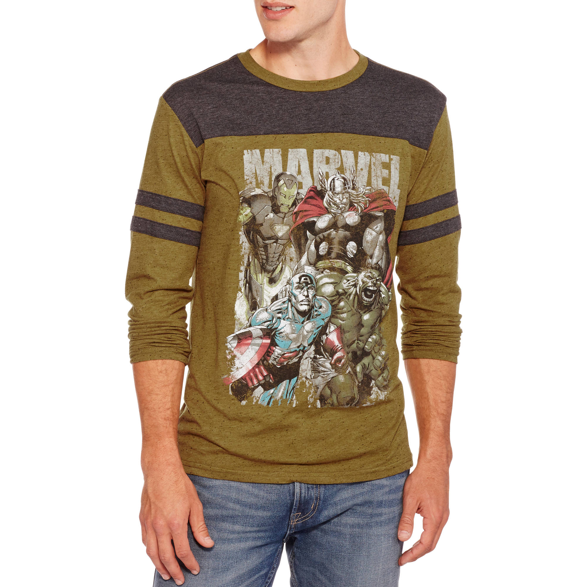 Marvel Avengers Men's Long Sleeve Shirt