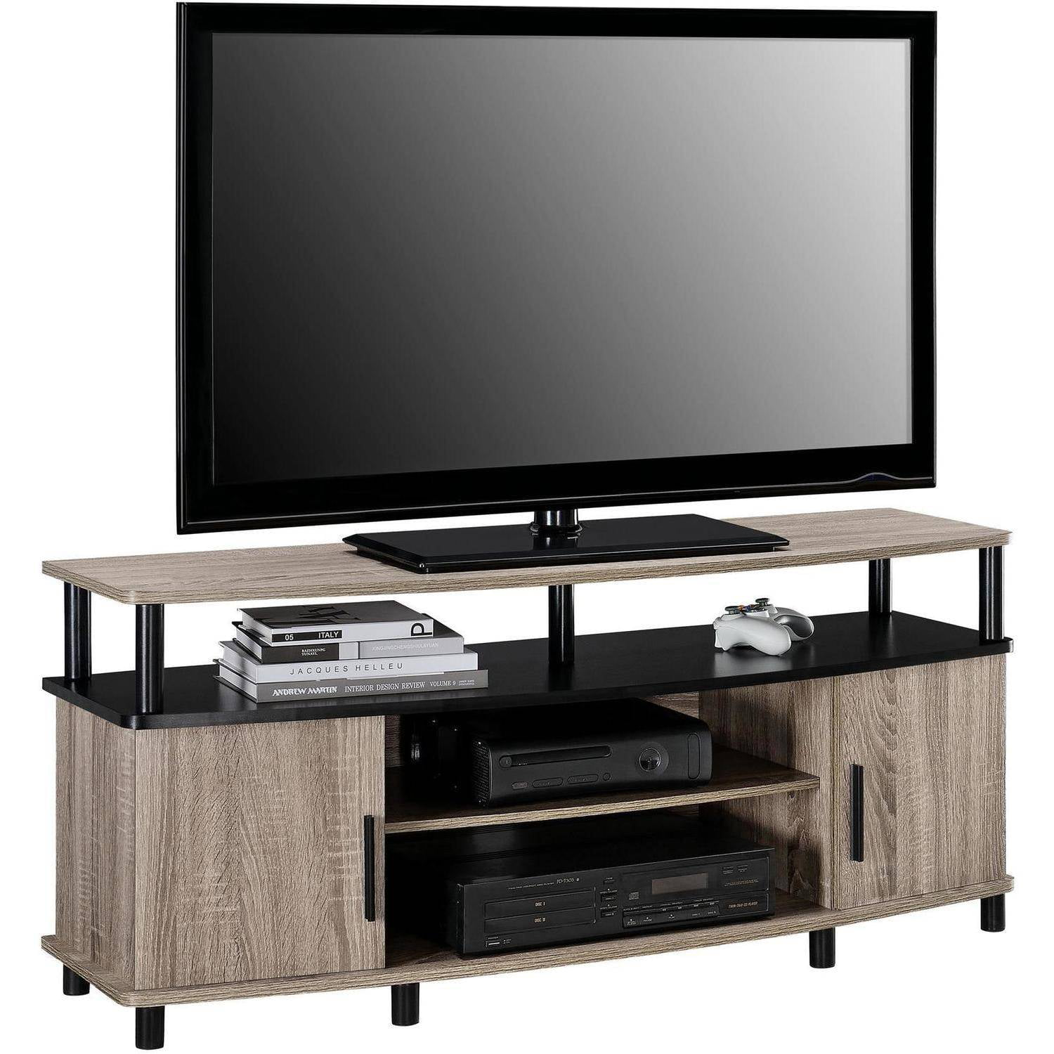 tv stand oak carson sonoma for tvs up to 50 living room modern altra ebay. Black Bedroom Furniture Sets. Home Design Ideas