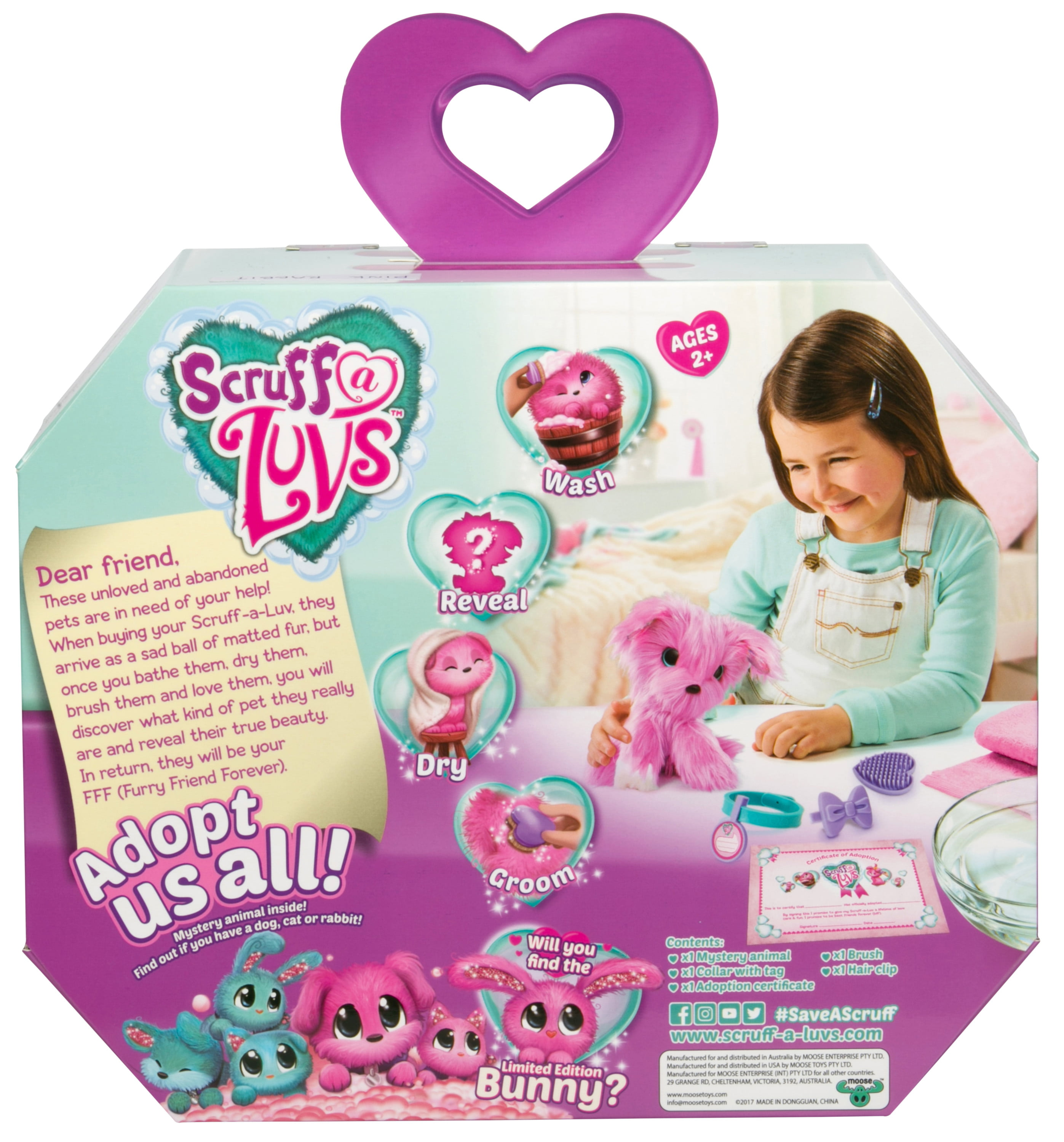 Smart Little Live Scruff-a-luvs Plush Mystery Rescue Pet Blue Electronic, Battery & Wind-up