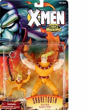 X-Men After Xavier: The Age of Apocolypse Sabretooth Action Figure, Wild Child Sidekick Figure By X Men by