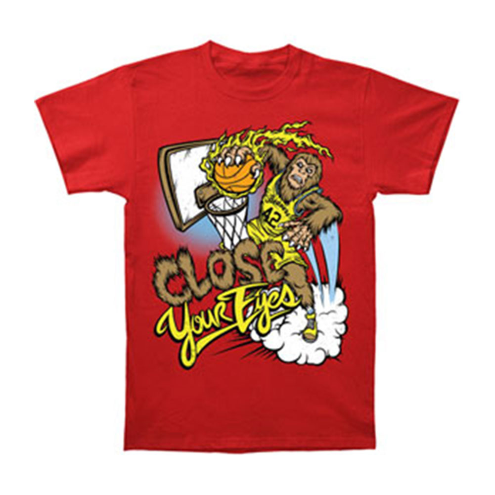 Close Your Eyes Men's  Teenwolf T-shirt Red