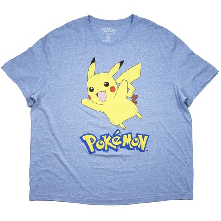 f749c6261 POKEMON - Pokemon Men's T-Shirt Heather Blue 2XL-5XL Big & Tall Vintage  Pikachu Tee Top - Walmart.com