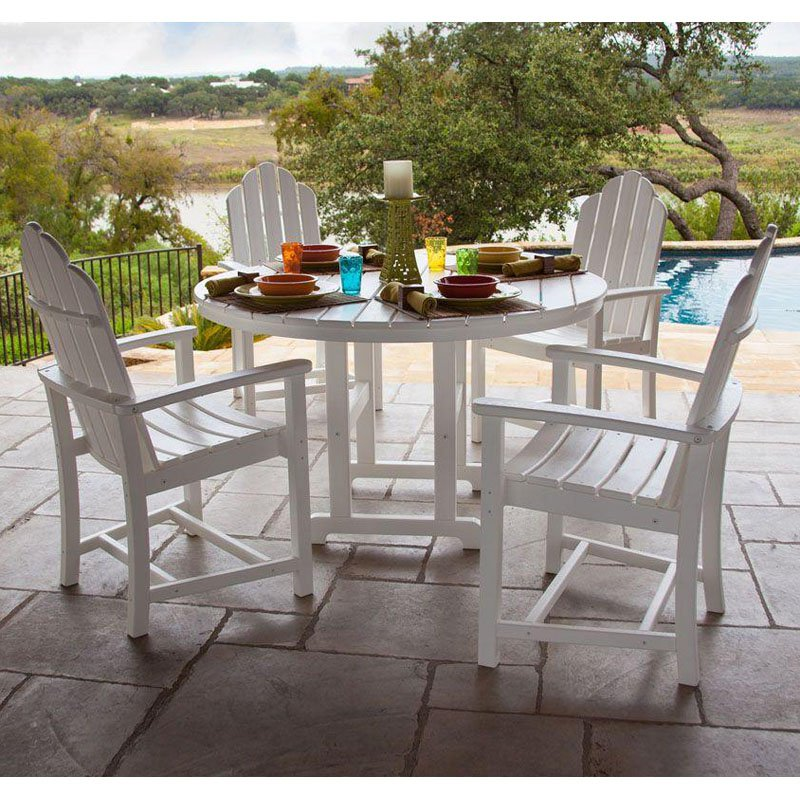Hanover SIESTAKEY5PC 5-Piece All-Weather Patio Dining Set White