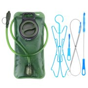 Hydration Bladder 2 Liter Leak Proof Water Reservoir/Cleaning Kit, BPA Free Hydration Pack Replacement, Military Class Quality, Wide-Opening,Shutoff Valve, Best for Hiking,Cycling,Climbing