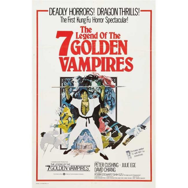 Pop Culture Graphics MOVCB44463 The Legend of The 7 Golden Vampires Movie Poster Print, 27 x 40 - image 1 de 1
