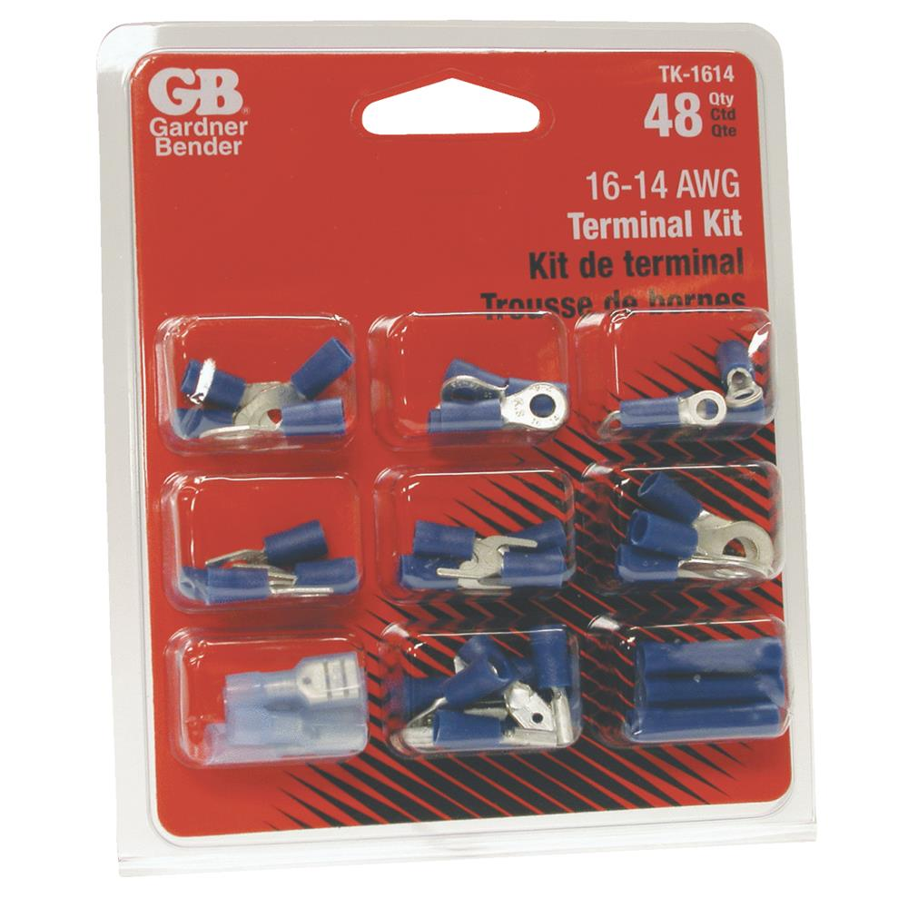 GB Gardner Bender TK-1614 AWG Terminal Assorted 48-Piece Kit