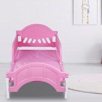 Mgaxyff Thickened Kindergarten Baby Bed Children's Small Siesta Bed Guardrail Plastic Cartoon Crib, Plastic Bed, Cartoon Bed