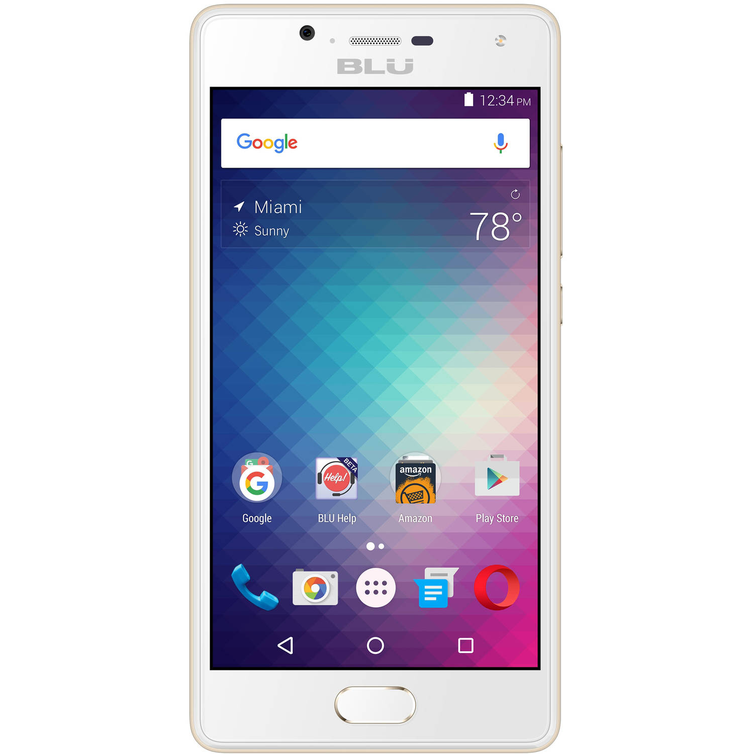 BLU Studio Touch S0211UU 16GB Unlocked GSM Dual-SIM 4G Quad-Core Android Phone w/ 8MP Camera - Gold