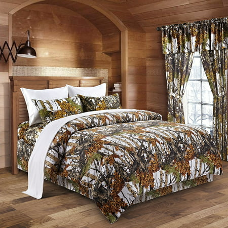 The Woods White Camouflage Queen 8pc Premium Luxury