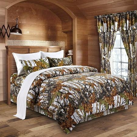The Woods White Camouflage Queen 8pc Premium Luxury