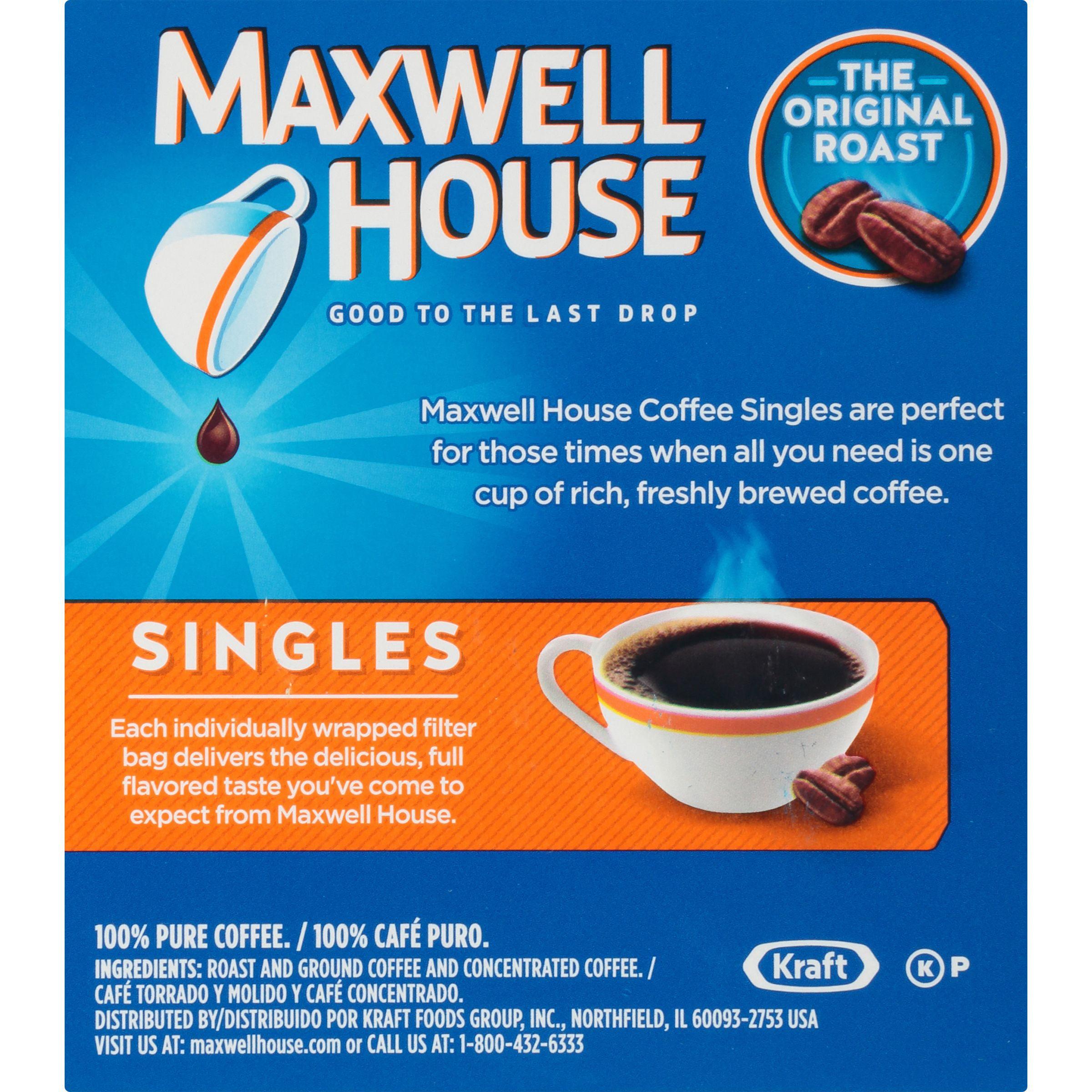 Maxwell House Singles Original Roast Ground Coffee Bags