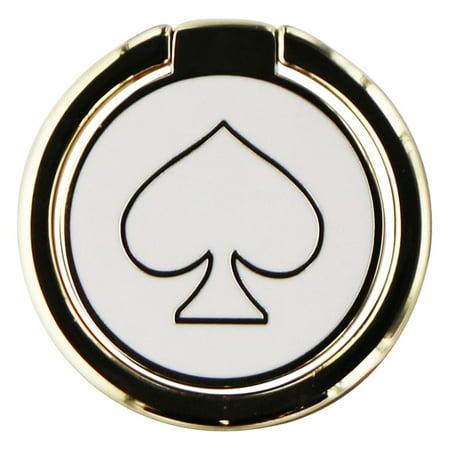 Cream Ring (KATE SPADE NEW YORK UNIVERSAL STABILITY RING - GOLD/CREAM ENAMEL )