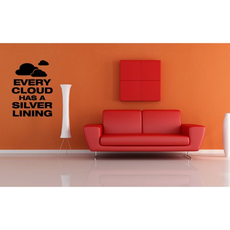 Stickalz Llc Every Cloud Has A Silver Lining Quote Wall Art Sticker