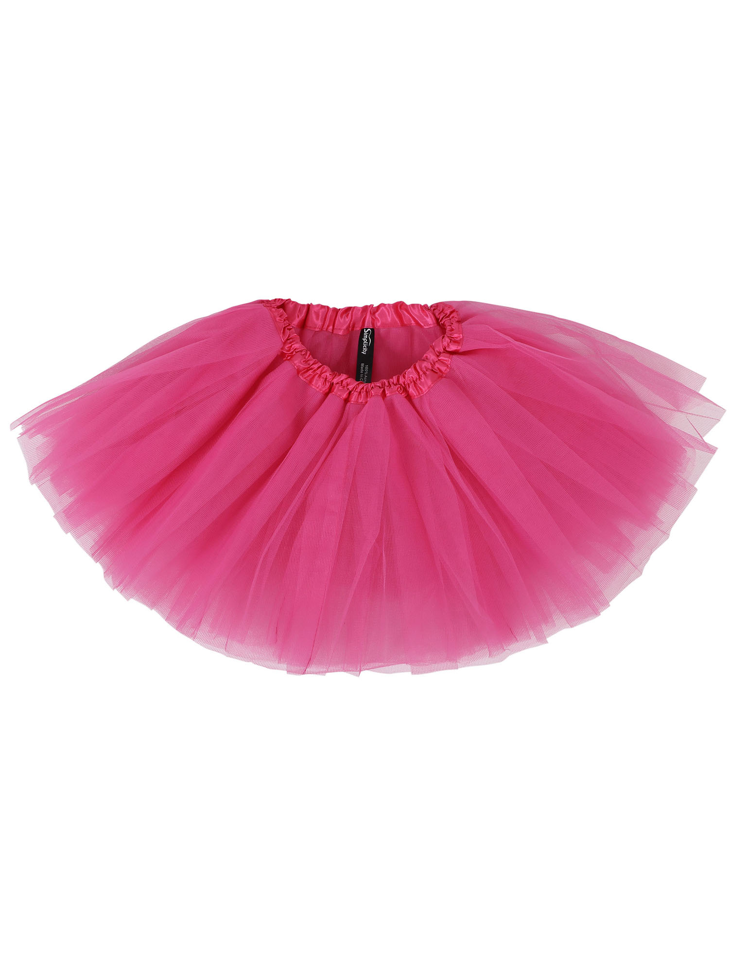 Simplicity Tollder Classic 5 layered Tulle Tutu Skirts Dance Cosplay Dress, Rose