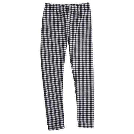 9e001c74363714 HDE - HDE Girls Fleece Winter Knit Leggings Kids Nordic Stretch Pants  Footless Tights (Black White Checkered, X-Small / 4-5 ) - Walmart.com