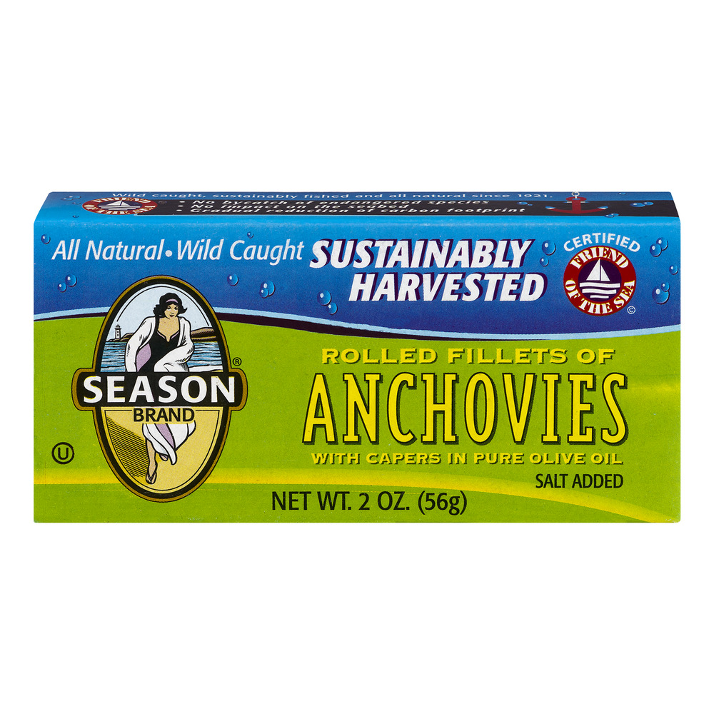 SEASONS ANCHOVY ROLLED