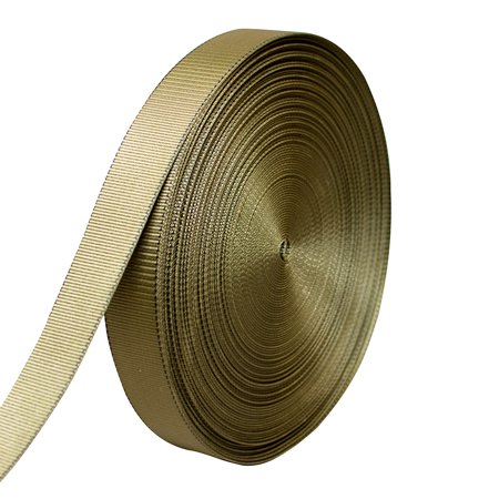 "AMP 5000lbs Rated Heavy Duty Mil Spec Military Grade Nylon Fastening Webbing Strap 2"" Wide 50 Yards Coyote Brown/Black"