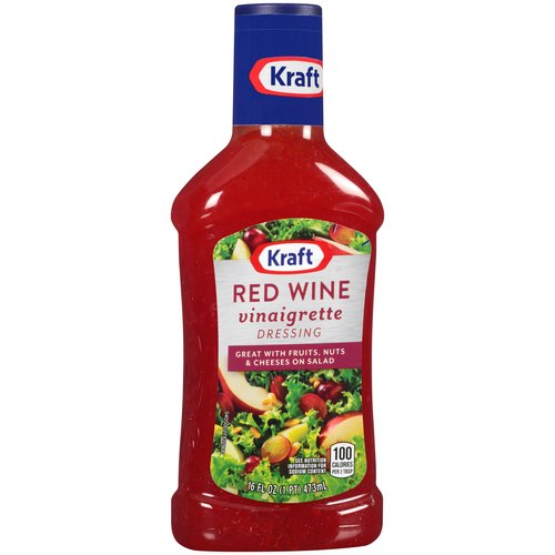 Kraft Red Wine Vinaigrette Salad Dressing, 16 fl oz