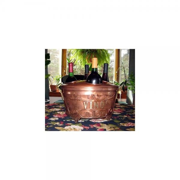 4 Wine Bottle Ice Bucket Stainless W copper Finish New by