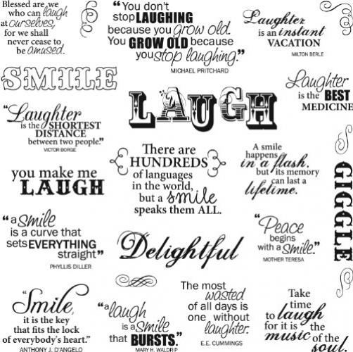 Fiskars 8x8 Inch Laugh With Me Clear Stamps
