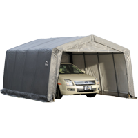 Shelterlogic Garage-in-a-Box Compact 12' x 16' x 8' Peak Style Garage, Gray