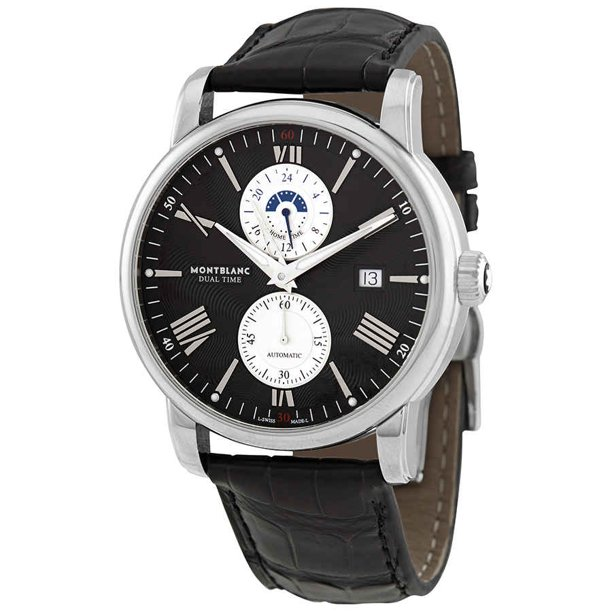 Montblanc 4810 Dual Time Automatic Black Dial Men's Watch 114858