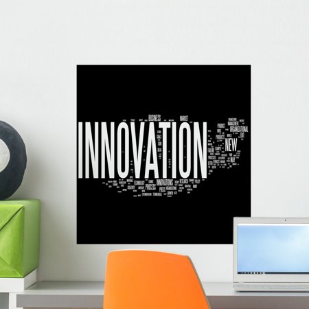 - Innovation Tag Cloud Wall Mural by Wallmonkeys Peel and Stick Graphic (18 in H x 18 in W) WM199965