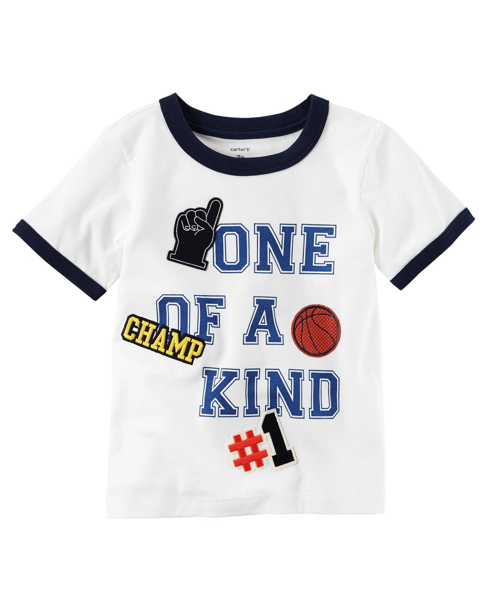 Carter's Baby Boys' One Of A Kind Ringer Tee, 18 Months
