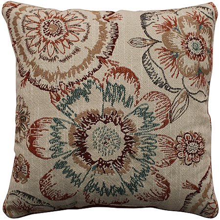 Better Homes And Gardens Rust Floral Decorative Pillow Walmart Cool Rust Decorative Pillows