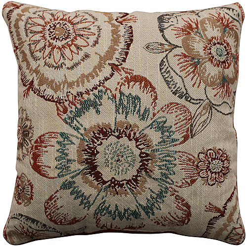 Better Homes and Gardens Rust Floral Decorative Pillow