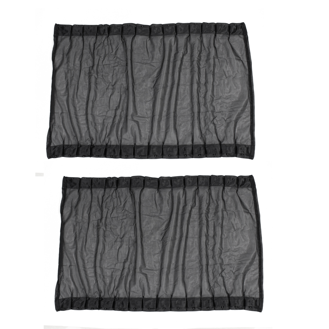 "2Pcs 27.6"" x 18.9"" Mesh Foldable Car Side Window Curtain Sun Shade Suction Cup Mounting Black"