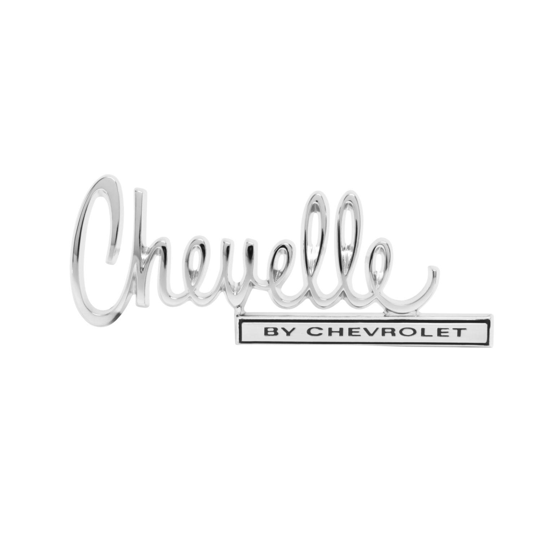"1970 Chevelle Trunk Lid Emblem, ""Chevelle By Chevrolet"