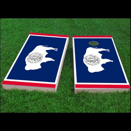 Cornhole Bag Toss Wyoming State Flag Cornhole Board Set Sporting Goods