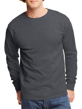 75c0c5465758 Product Image Mens Tagless Cotton Crew Neck Long-Sleeve Tshirt