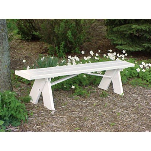 Dura-Trel Selena 6 ft. Backless Vinyl Bench by Dura-Trel Inc