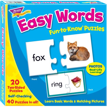 Trend, TEP36007, Easy Words Fun-to-Know Puzzles, 1 Each, Multicolor - Halloween Word Games And Puzzles