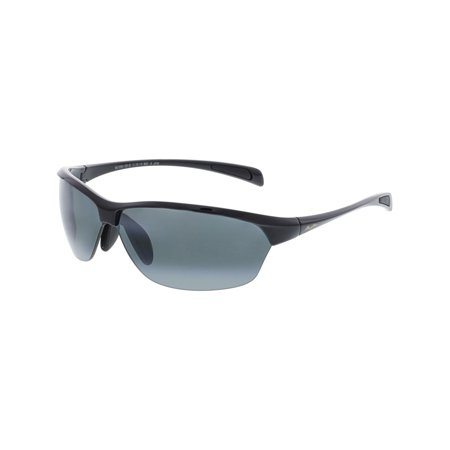 Maui Jim Men's Polarized Hot Sands 426-02 Black Semi-Rimless (Maui Jim Sand Island Sunglasses)