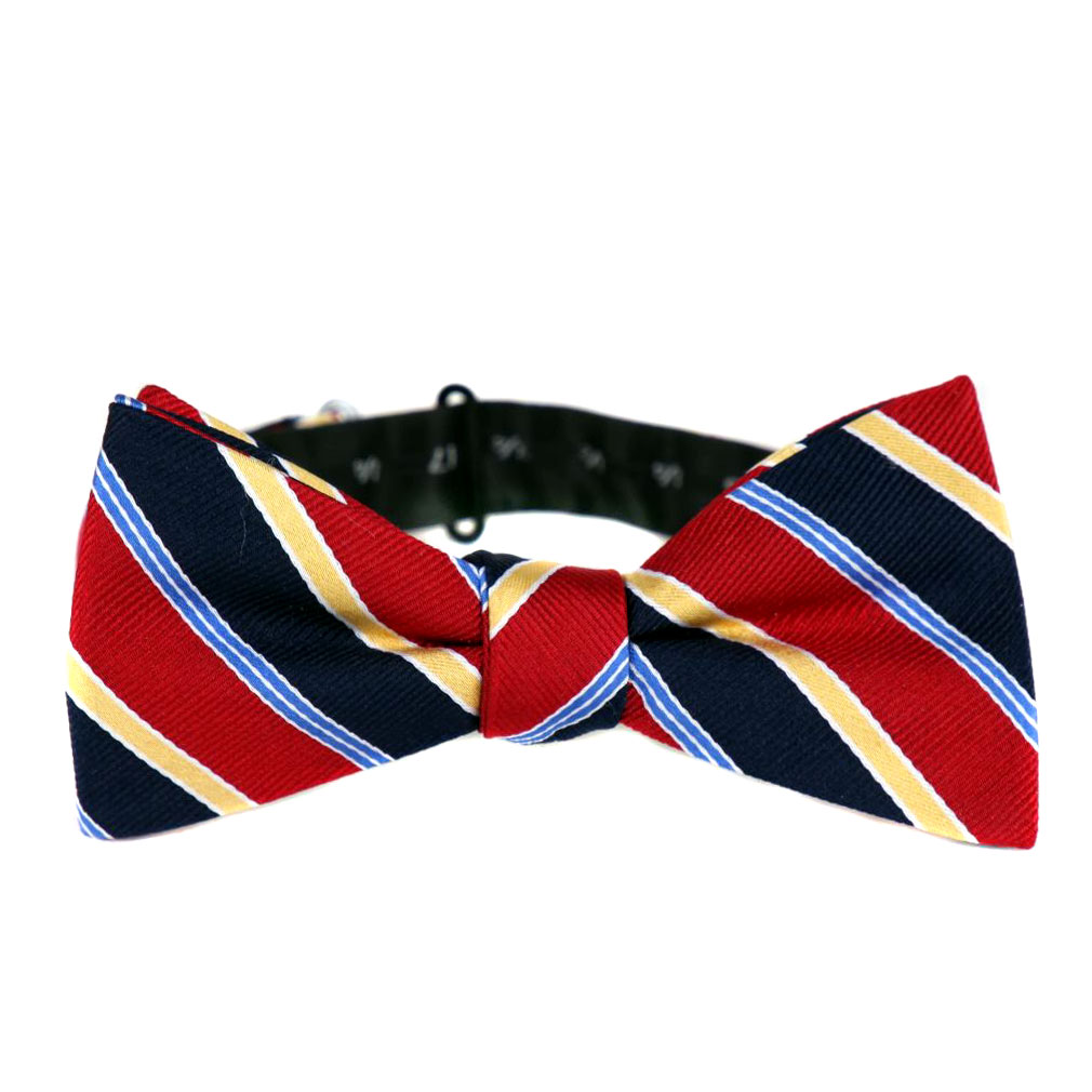 BuyYourTies - PBTZ-117 - Pre Tied Bow Tie  Red Navy