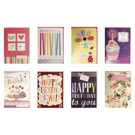 Birthday Cards Bulk (Birthday Cards Assorted Handmade Embellished Cards Box Set Bulk Assortment for Her Birthday, 8)