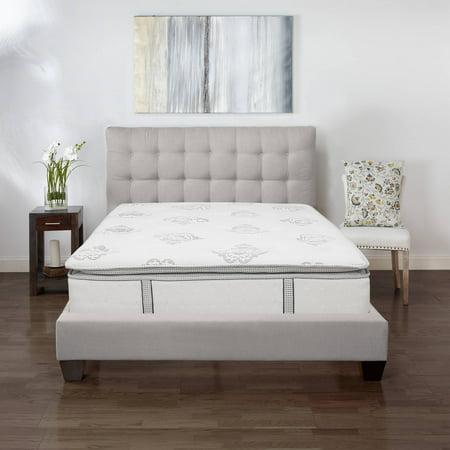 Modern Home Gel Pillow : Modern Sleep Mercer Pillow-Top Cool Gel Memory Foam and Innerspring Hybrid 12-Inch Mattress ...