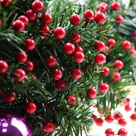 Artificial Berry Spray - 250 Strains 500 Red Berries Artificial Red Berry Stems for Christmas Tree Decorations,Holly Berry Picks Stems for Christmas Decorations, Crafts,Wreath,Garland, Holiday Home Decor,3 Pack