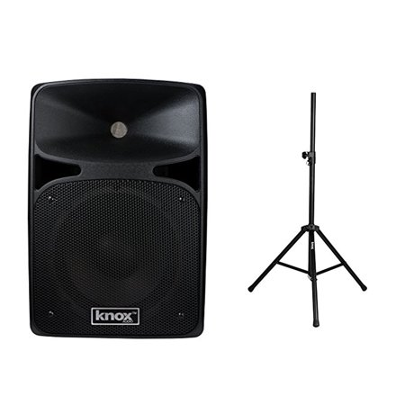 "Knox 25 Watt 8"" Active Bluetooth Speaker & Steel Speaker Stand w  Air Cushion by"