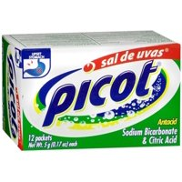 Picot Antacid Effervescent Powder with Sodium Bicarbonate & Citric Acid 12 ea (Pack of 6)