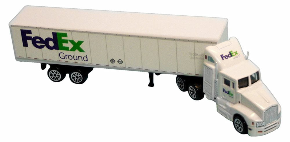 FedEx Ground Tractor Trailer, White Real Toy RT1037 1 87 Scale Model Truck by Daron