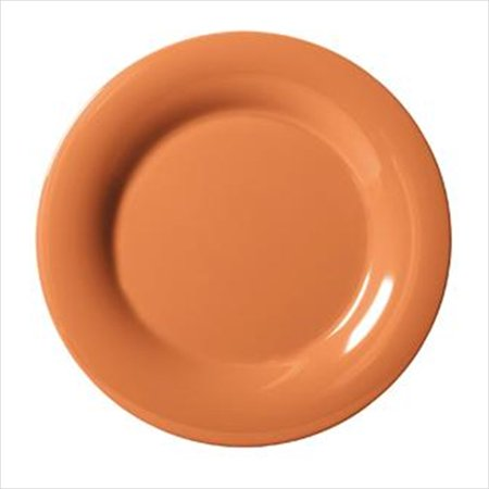 Diamond Harvest 12 inch Wide Rim Plate Pumpkin Melamine/Case of 12 ()