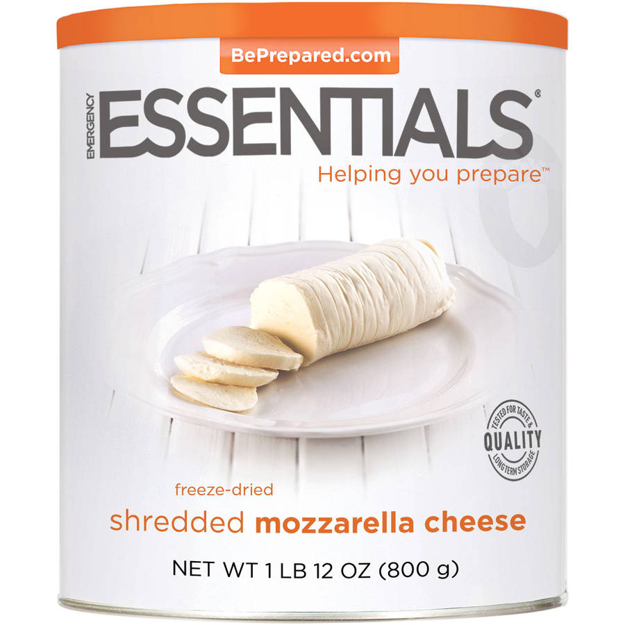 Emergency Essentials Freeze-Dried Shredded Mozzarella Cheese, 18 oz by Emergency Essentials